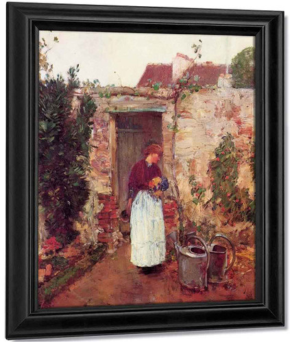 The Garden Door By Frederick Childe Hassam By Frederick Childe Hassam