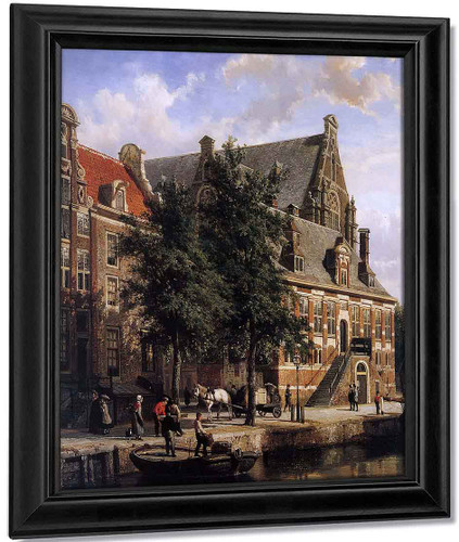 The Oude Waag At The Westerkerk By Cornelius Springer