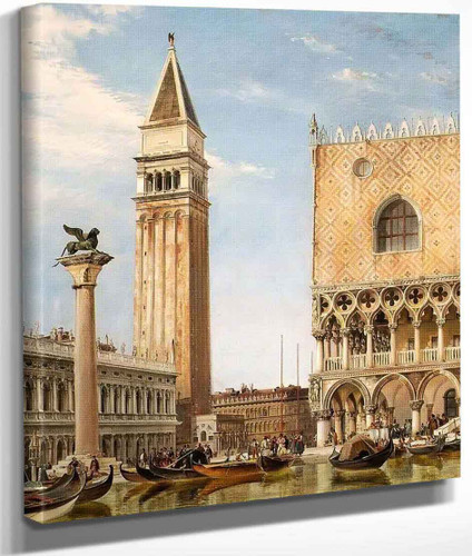 The Piazzetta, Venice By Edward William Cooke, R.A.