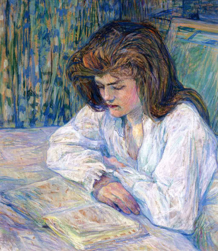 The Reader By Henri De Toulouse Lautrec