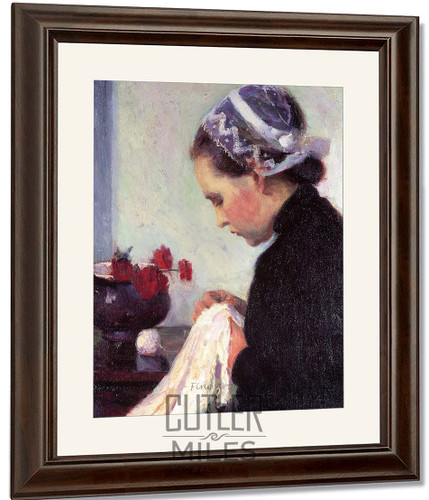 The Sewing Girl By Bernhard Gutmann