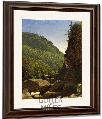 The Top Of Kauterskill Falls By Sanford Robinson Gifford By Sanford Robinson Gifford