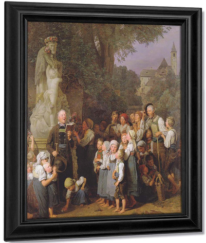The Veneration Of St. John Nepomuk By Ferdinand Georg Waldmüller Austrian