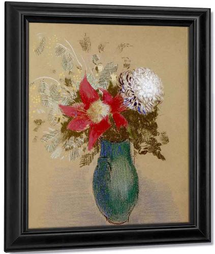 Vase Of Flowers By Odilon Redon By Odilon Redon