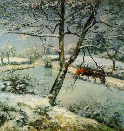 Winter At Montfoucault By Camille Pissarro By Camille Pissarro