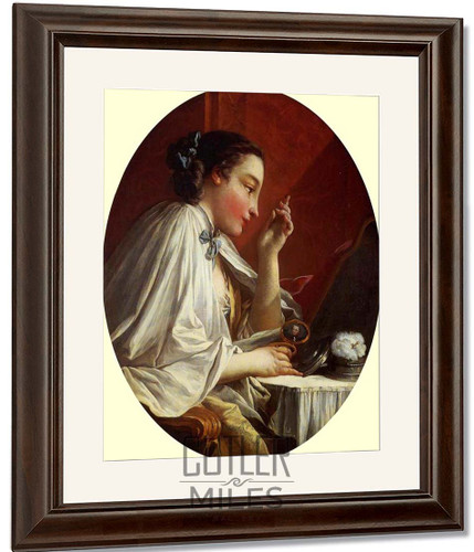Woman At Her Toilet By Francois Boucher