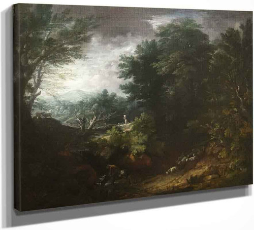 A Grand Landscape By Thomas Gainsborough By Thomas Gainsborough