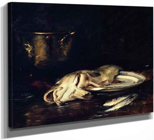 An English Cod By William Merritt Chase