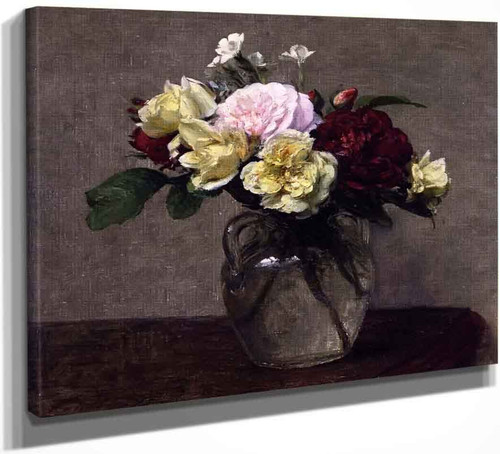 Bouquet Of Varied Roses By Henri Fantin Latour By Henri Fantin Latour