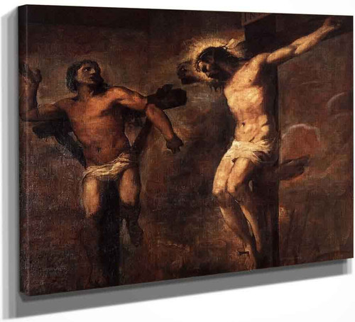 Christ And The Good Thief By Titian
