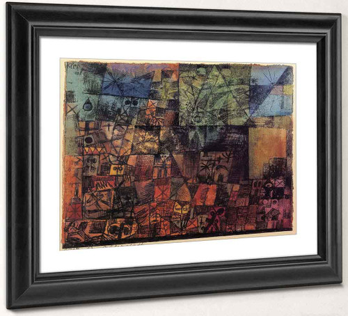 City Of Tombs By Paul Klee Art Reproduction