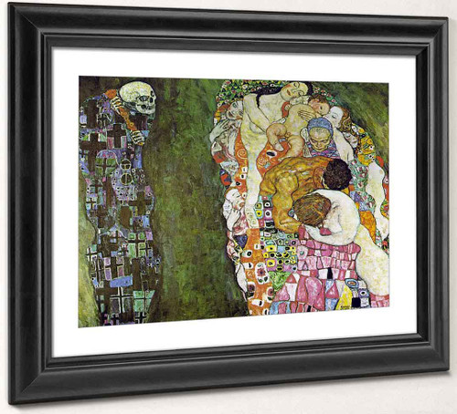 Death And Life By Gustav Klimt Art Reproduction