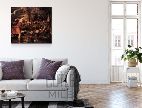 Death Of Actaeon By Titian Art Reproduction