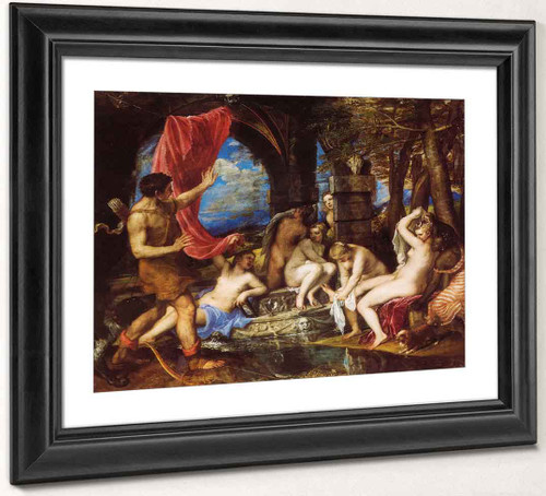 Diana And Actaeon By Titian Art Reproduction