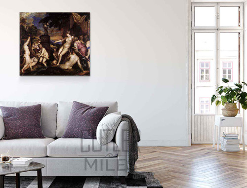 Diana And Callisto By Titian Art Reproduction