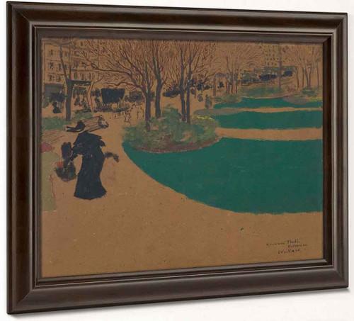 Fashionable Lady, Square Des Batignolles By Edouard Vuillard
