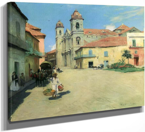 Havana Cathedral By Willard Leroy Metcalf