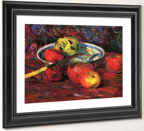 Knife And Apples By Bernhard Gutmann