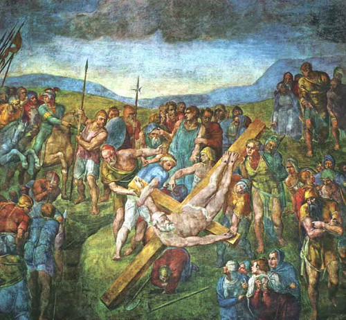 Martyrdom Of St Peter By Michelangelo Buonarroti By Michelangelo Buonarroti