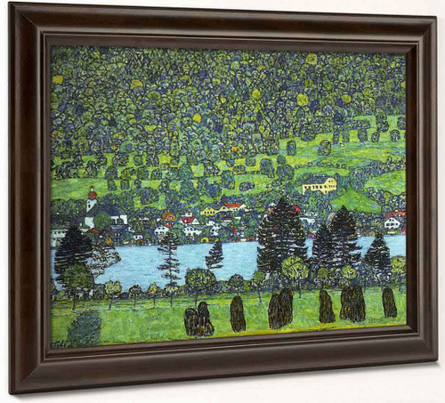 Mountain Slope At Unterach By Gustav Klimt