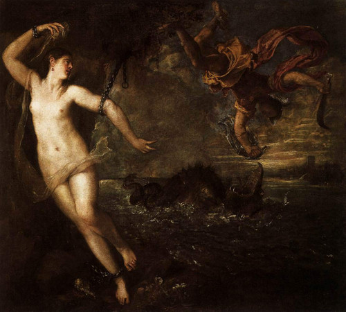 Perseus And Andromeda By Titian
