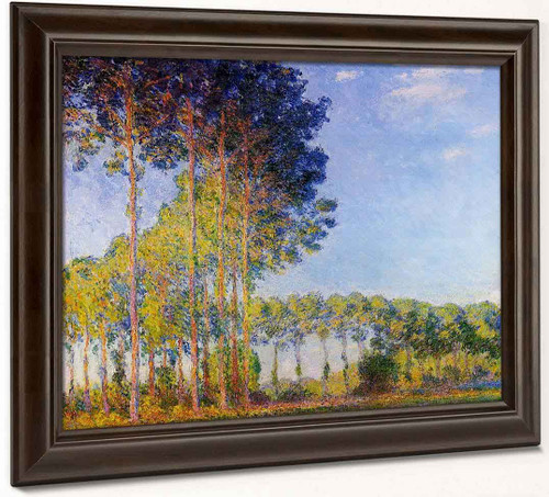 Poplars On The Banks Of The River Epte, Seen From The Marsh By Claude Oscar Monet