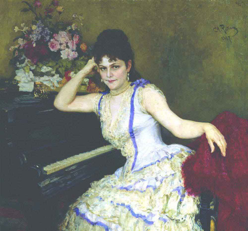Portrait Of Pianist And Professor Of Saint Petersburg Conservatory Sophie Menter. By Ilia Efimovich Repin