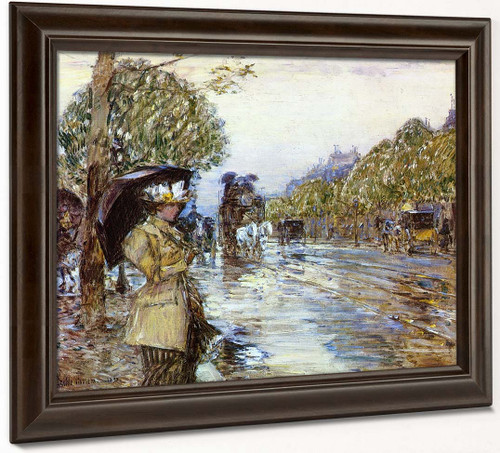 Rainy Day, Paris By Frederick Childe Hassam
