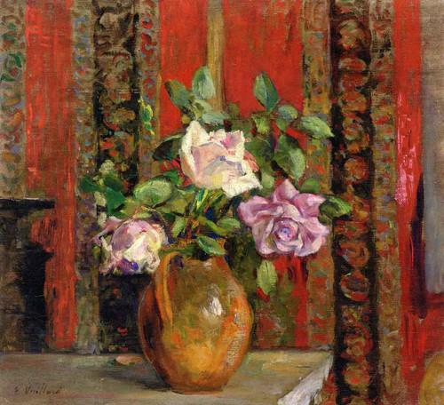 Roses In A Pitcher By Edouard Vuillard