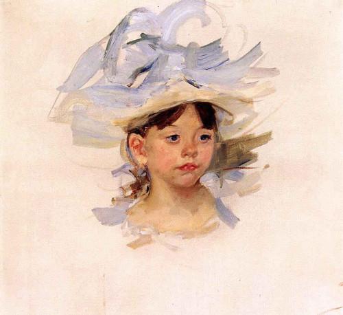 Sketch Of 'Ellen Mary Cassatt In A Big Blue Hat' By Mary Cassatt
