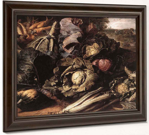 Still Life Vegetables By Frans Snyders