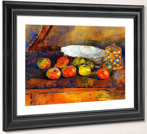 Still Life With Apples, Blue Bowl And Coffee Pot 1 By Alexei Jawlensky By Alexei Jawlensky