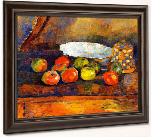 Still Life With Apples, Blue Bowl And Coffee Pot By Alexei Jawlensky By Alexei Jawlensky