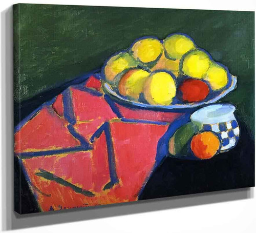 Still Life With Apples 1 By Alexei Jawlensky By Alexei Jawlensky
