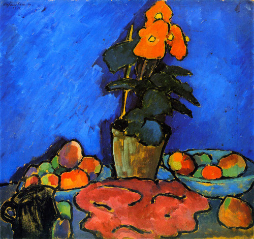 Still Life With Begonia 1 By Alexei Jawlensky By Alexei Jawlensky