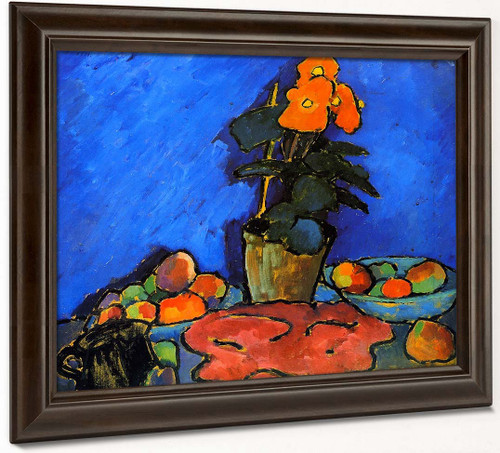 Still Life With Begonia By Alexei Jawlensky By Alexei Jawlensky