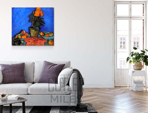Still Life With Begonia By Alexei Jawlensky By Alexei Jawlensky