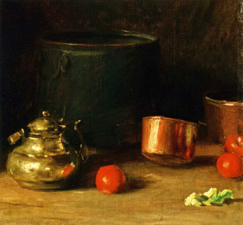 Still Life With Brass Kettle By William Merritt Chase
