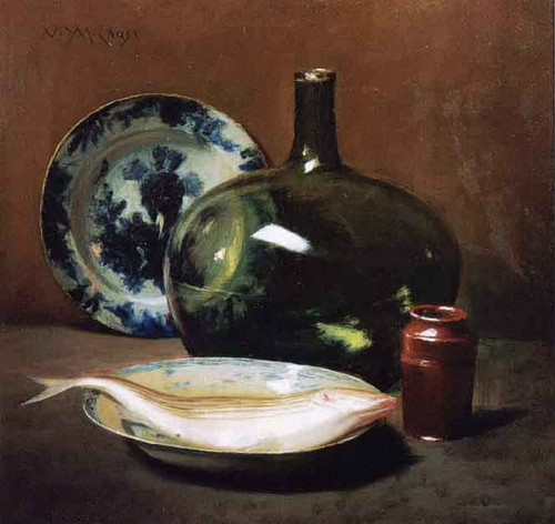 Still Life With Fish 33 By William Merritt Chase