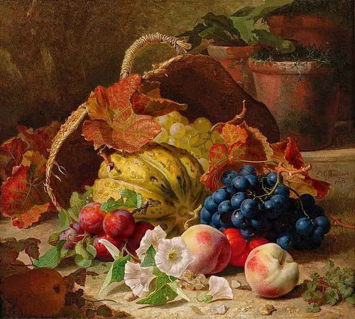 Still Life With Fruit And Convulvulus By Eloise Harriet Stannard