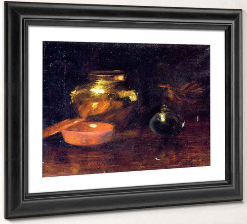 Still Life With Fruit And Pottery 2 By William Merritt Chase