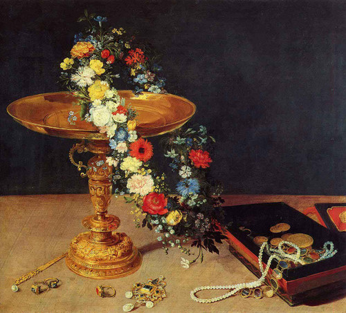 Still Life With Garland And Golden Tazza By Jan Brueghel The Elder