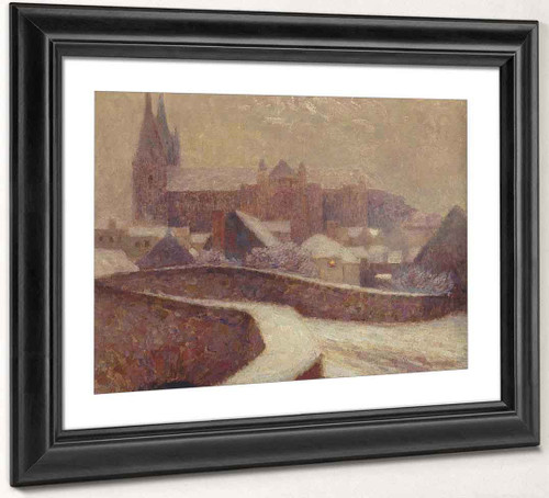 The Cathedral At Chartres By Henri Le Sidaner By Henri Le Sidaner