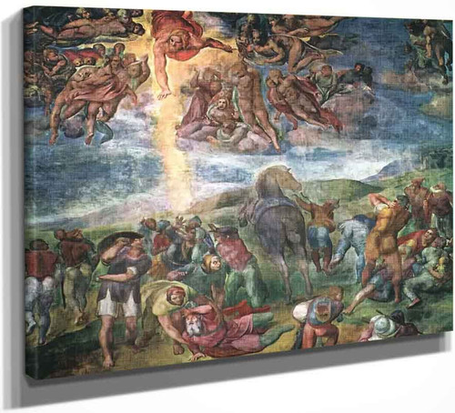 The Conversion Of Saul By Michelangelo Buonarroti By Michelangelo Buonarroti
