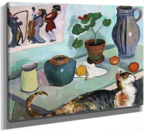 The Spirit Of The House Still Life With Cat By August Macke