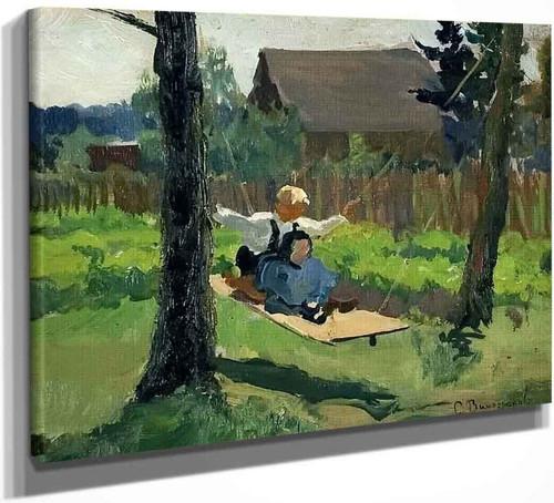The Swing By Sergei Arsenevich Vinogradov Russian 1869 1938