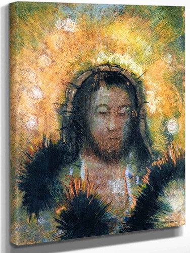 Christ's Head By Odilon Redon Art Reproduction