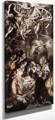 Adoration Of The Shepherds1 By El Greco By El Greco