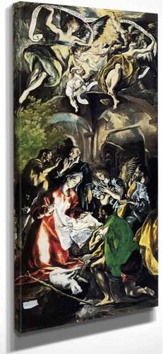 Adoration Of The Shepherds By El Greco By El Greco