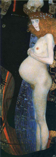 Hope I By Gustav Klimt Art Reproduction
